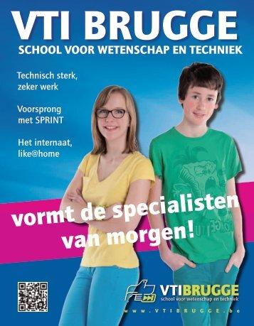 vormt de specialisten van morgen! - Vrij Technisch Instituut Brugge