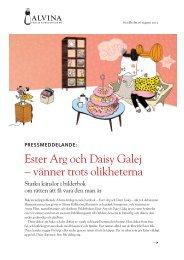 Ester Arg och Daisy Galej – vänner trots olikheterna - Alvina Förlag