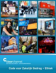 Code voor Zakelijk Gedrag + Ethiek - Clear Channel Communications