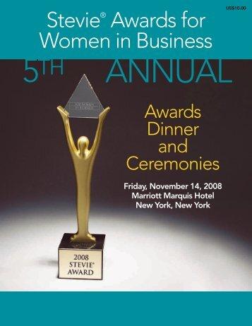 SAFWIB08 Program Web - the Stevie Awards