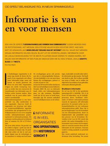 Informatie is van en voor mensen - Guus Pijpers