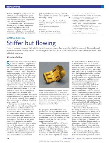 Stiffer but flowing - Ecole Normale Supérieure