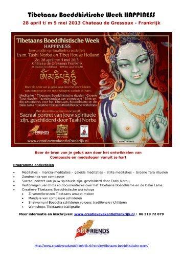 Tibetaans Boeddhistische Week HAPPINESS - Tibet House Holland