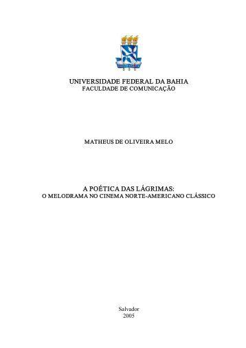universidade federal da bahia a poética das lágrimas - Facom ...