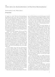 Zehn Jahre als »Denkmalminister« mit Paul Artur ... - Christoph Zöpel