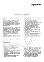 folder 'Goed voorbereid op gesprek' - Groene Hart Ziekenhuis