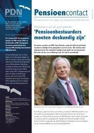 Pensioencontact nr. 46 (januari 2007) - www.PDNpensioen.nl.