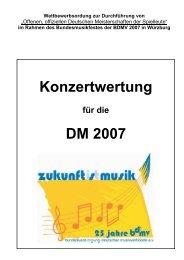 Konzertwertung DM 2007