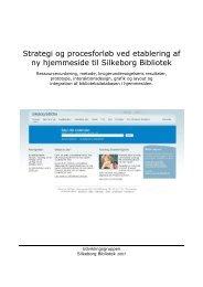 Strategi og procesforløb ved etablering af ny hjemmeside til ...