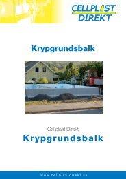 Isolergrundsbalk - Cellplast Direkt Sverige AB