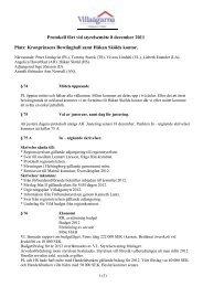 Protokoll fört vid styrelsemöte 8 december 2011 Plats: Kronprinsens ...