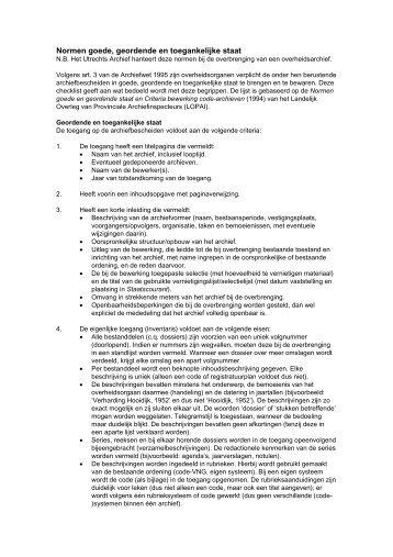 Normen goede, geordende en toegankelijke staat - Het Utrechts ...