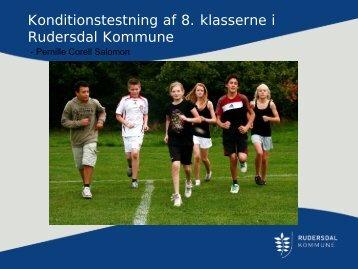 Konditionstestning af 8. klasserne i Rudersdal ... - Hjerteforeningen