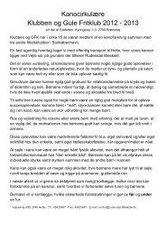 Kanocirkulære Klubben og Gule Fritklub 2012 - 2013