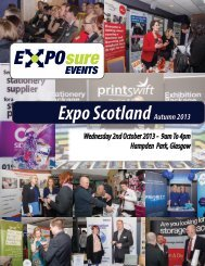 Expo Scotland – Autumn 2013 Exhibitor Pack - North East Expo
