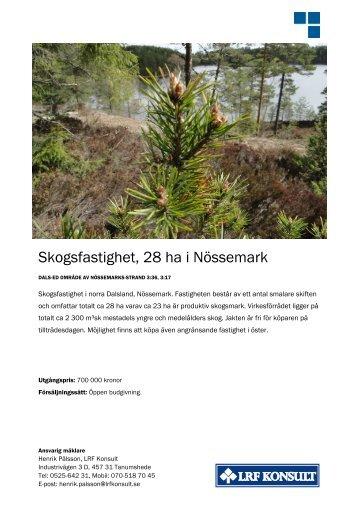 Skogsfastighet, 28 ha i Nössemark - LRF Konsult