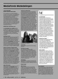 Mediafonds Mededelingen – 40 Bekroonde programma's – 41