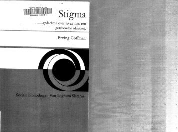 Stigma - History of Social Work
