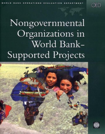 Nongovernmental Organizations in World Bank– Supported Projects