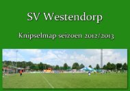 SV Westendorp knipselmap seizoen 2012/2013 - Sportvereniging ...