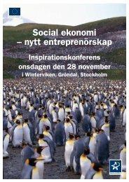 Social ekonomi - Rådet för Lokal Utveckling - Stockholm