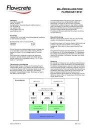 Miljödeklaration - Indufloor ledande inom fogfria industrigolv