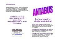 Antabus folder - Behandlingscenter Svendborg