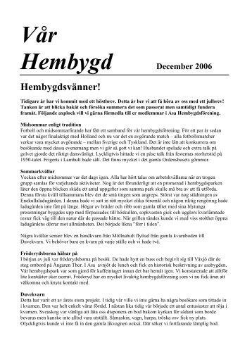 December - ASA Hembygdsförening