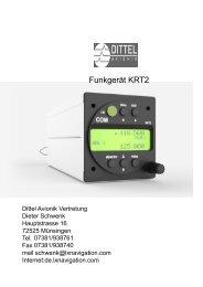 Dittel-Avionik-Funkgeräte und Transponder