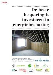 De beste besparing is investeren in energiebesparing - Bond Beter ...