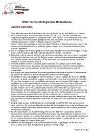 Proef Reglement Rodeo 2009 Klasse Noordelijke ... - NNK Autocross