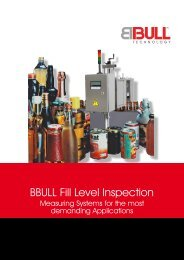 BBULL Fill Level Inspection - BBULL TECHNOLOGY