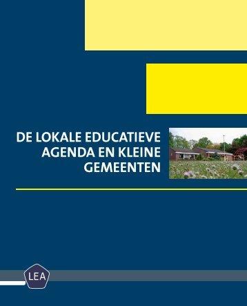 DE LOKALE EDUCATIEVE AGENDA EN KLEINE GEMEENTEN