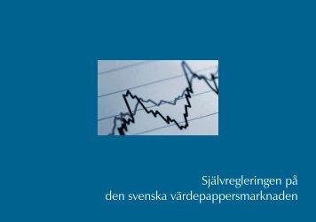 Självregleringen på den svenska värdepappersmarknaden