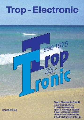 Katalog - Trop-Electronic GmbH