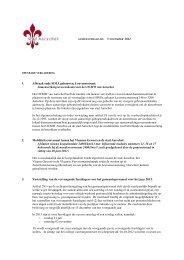 toelichtingen bij de agendapunten - Stad Aarschot