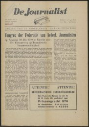 Congres der Federatie van Hederl. Journalisten