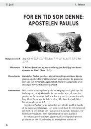 FOR EN TID SOM DENNE: APOSTELEN PAULUS - Bibelstudier