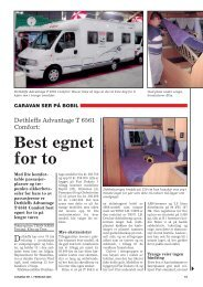 Best egnet for to - Norsk Caravan Club