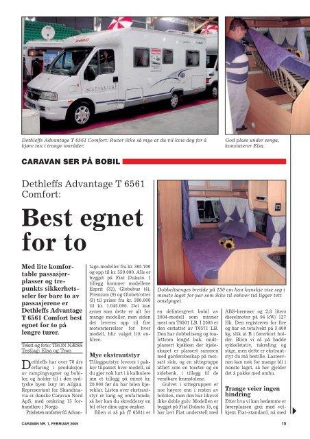 Best egnet for to - Norsk Caravan Club