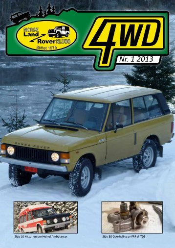 Nr. 1 2013 - Norsk Land Rover Klubb
