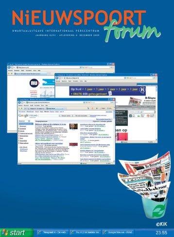 Npforum nr 4 2009 - Nieuwspoort