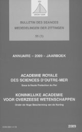 (2009) n°1 - Royal Academy for Overseas Sciences