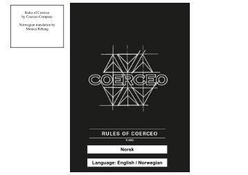 Language: English / Norwegian Norsk - Coerceo