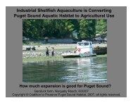 Industrial Shellfish Aquaculture is Converting Puget Sound Aquatic ...