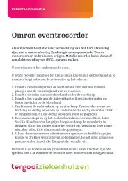 Omron eventrecorder [74kb] Cardiologie - Tergooi