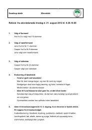 Referat fra elevrådsmøde tirsdag d. 21. august ... - Gandrup Skole