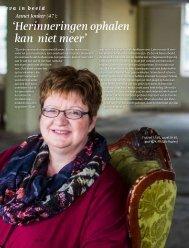 eva in beeld Annet Jonker (47): 'Herinneringen ophalen kan niet meer'
