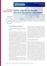 Elections législatives en Albanie - La Fondation Robert Schuman
