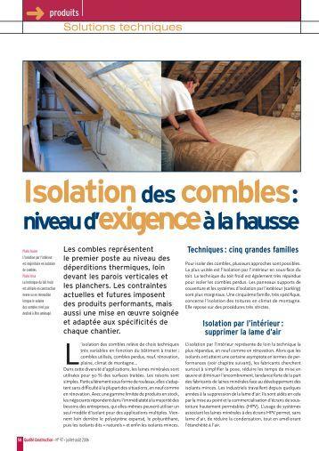 Isoler les combles perdus soufflage de laine iso pro for Isolation construction